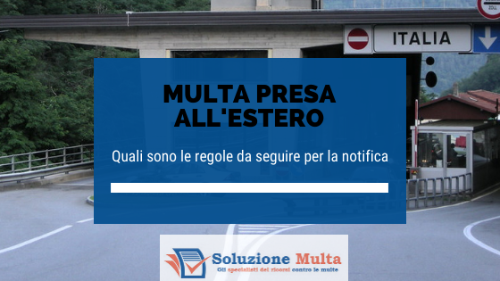 notifica delle multe prese all'estero