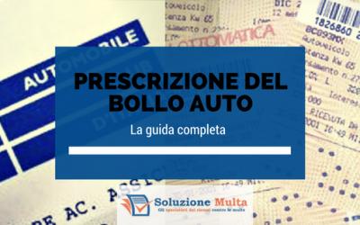 La guida completa sulla prescrizione del bollo auto