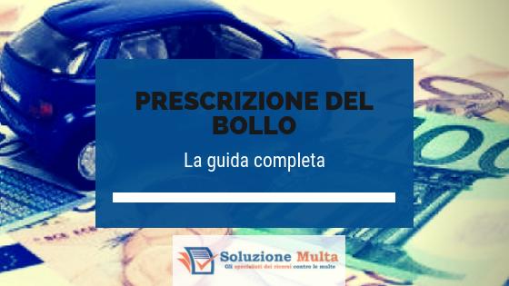 Prescrizione del bollo auto: la guida completa