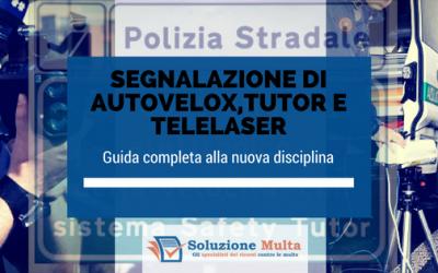 Segnalazione di autovelox, tutor e telelaser